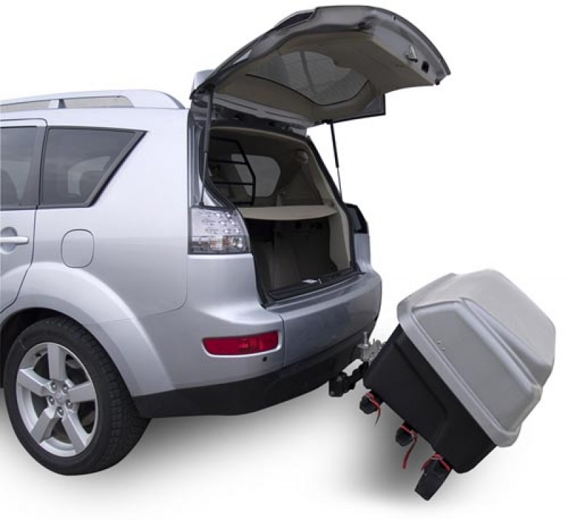 hecktr ger fahrradtr ger mit gro er transportbox gep ckbox 330 liter f r die anh ngerkupplung. Black Bedroom Furniture Sets. Home Design Ideas