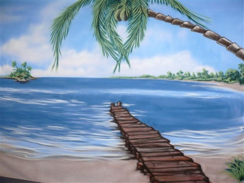 Kulisse Piraten Strand B Hnenbild Piraten Strand