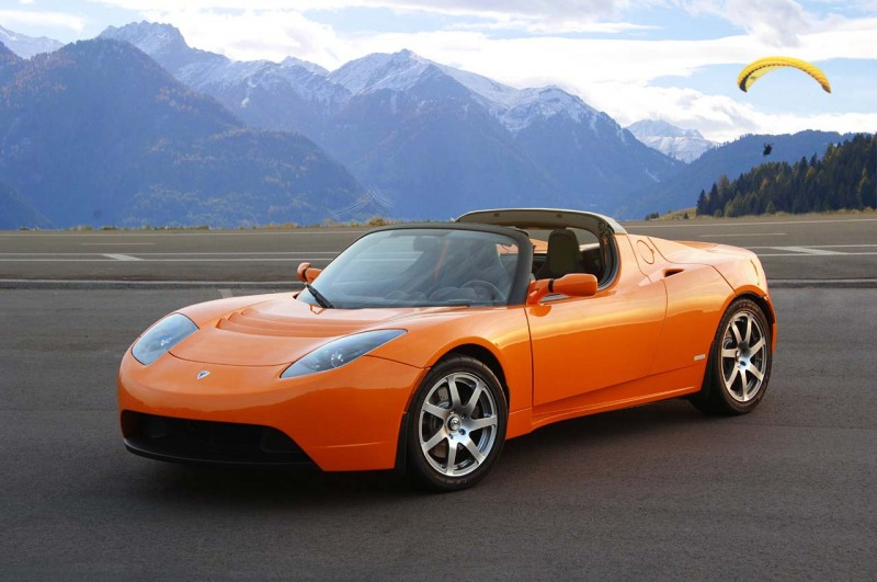 tesla roadster fahren in frankfurt am main. Black Bedroom Furniture Sets. Home Design Ideas