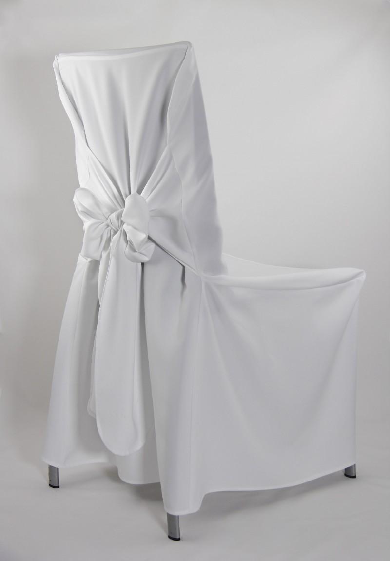 stuhlhussen stuhlhusse in wei mit schleife. Black Bedroom Furniture Sets. Home Design Ideas