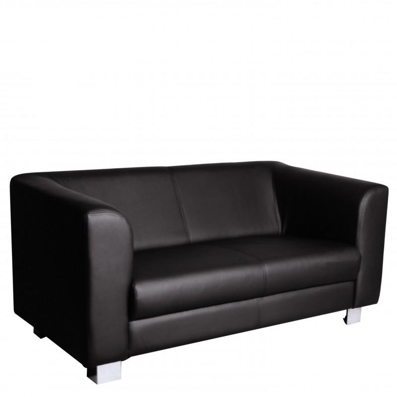 ledersofa majestic 2 sitzer schwarz. Black Bedroom Furniture Sets. Home Design Ideas