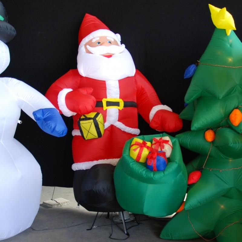 aufblasbarer weihnachtsmann schneemann tannenbaum oder