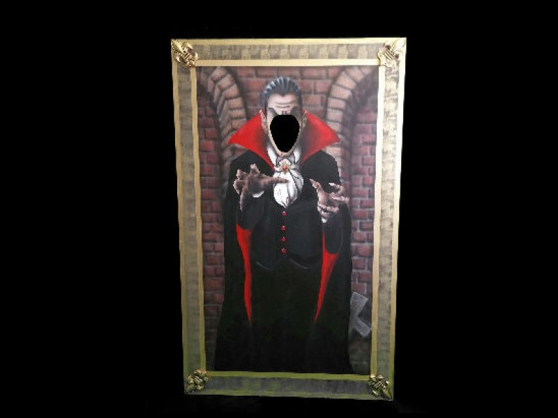 Halloween Fotowand.Fotowand Dracula Halloween Dekoration Grusel Vampir