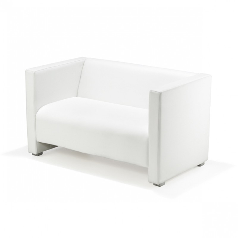 Loungesofa, Sofa, Loungemöbel, weiß, 2-Sitzer