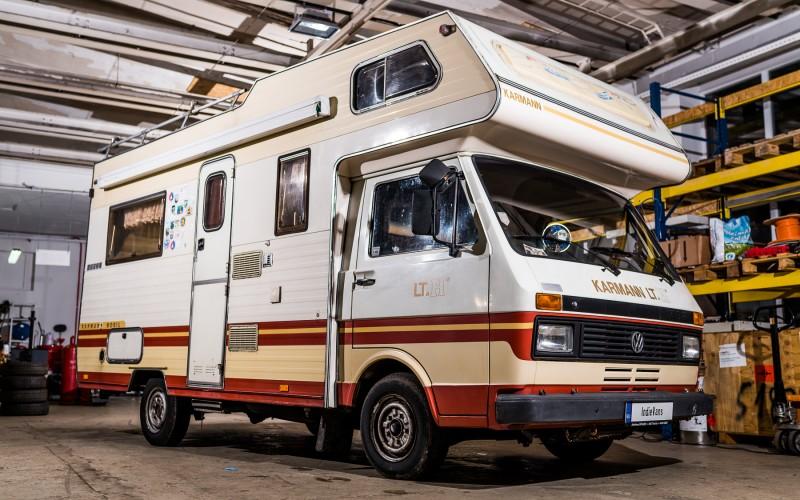 vw volkswagen lt 28 karmann camper caravan bus bulli womo. Black Bedroom Furniture Sets. Home Design Ideas