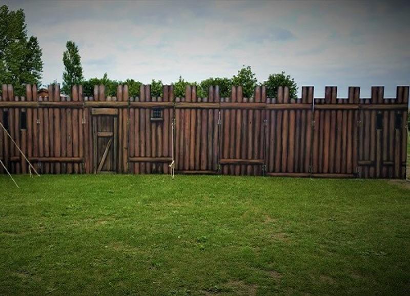 Palisaden Mauern Absperrungen Zaun