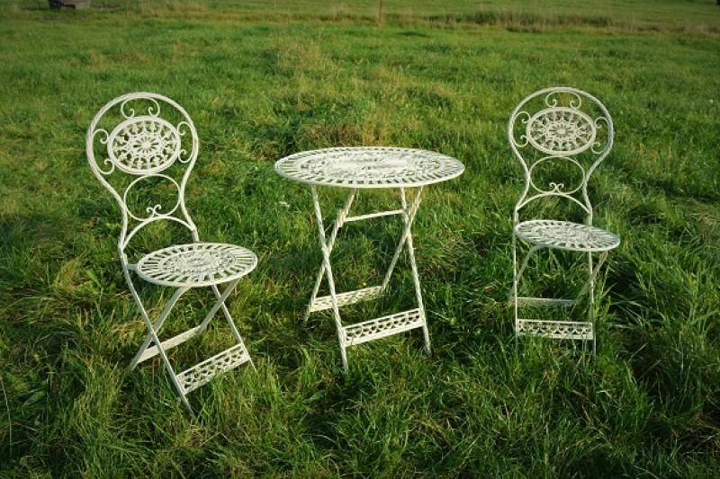 Gartenstühle Gartentisch Metall Garten Sitzgruppe Gartendekoration
