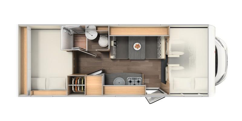 3x sunlight a70 modell 2019 alkoven mit 2x doppelbett. Black Bedroom Furniture Sets. Home Design Ideas