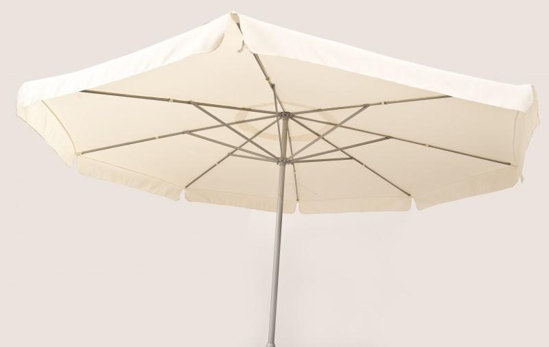 Sonnenschirm 4m Durchmesser Weiss Inkl Standfuss