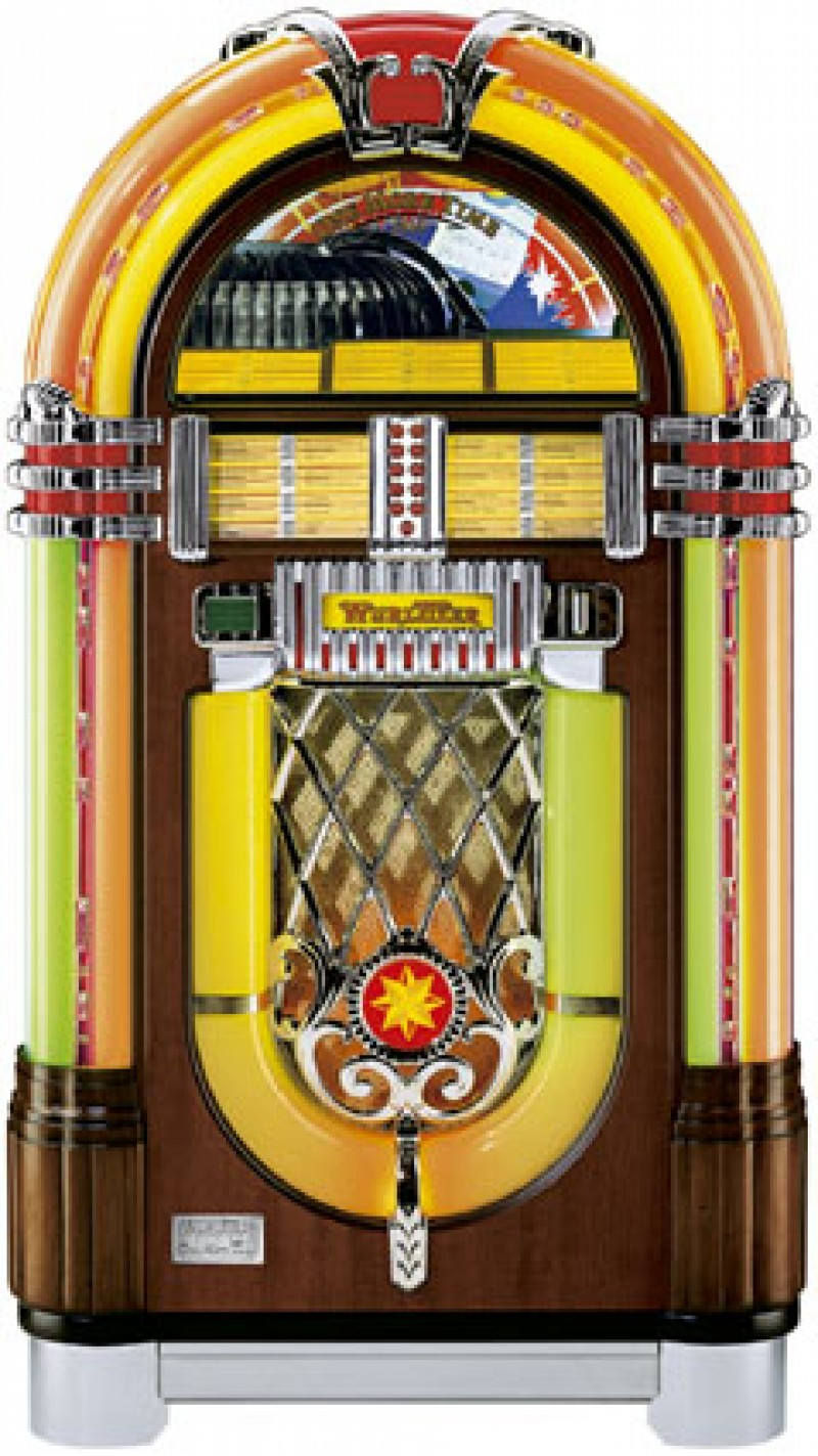 wurlitzer jukebox musikbox one more time juke box. Black Bedroom Furniture Sets. Home Design Ideas