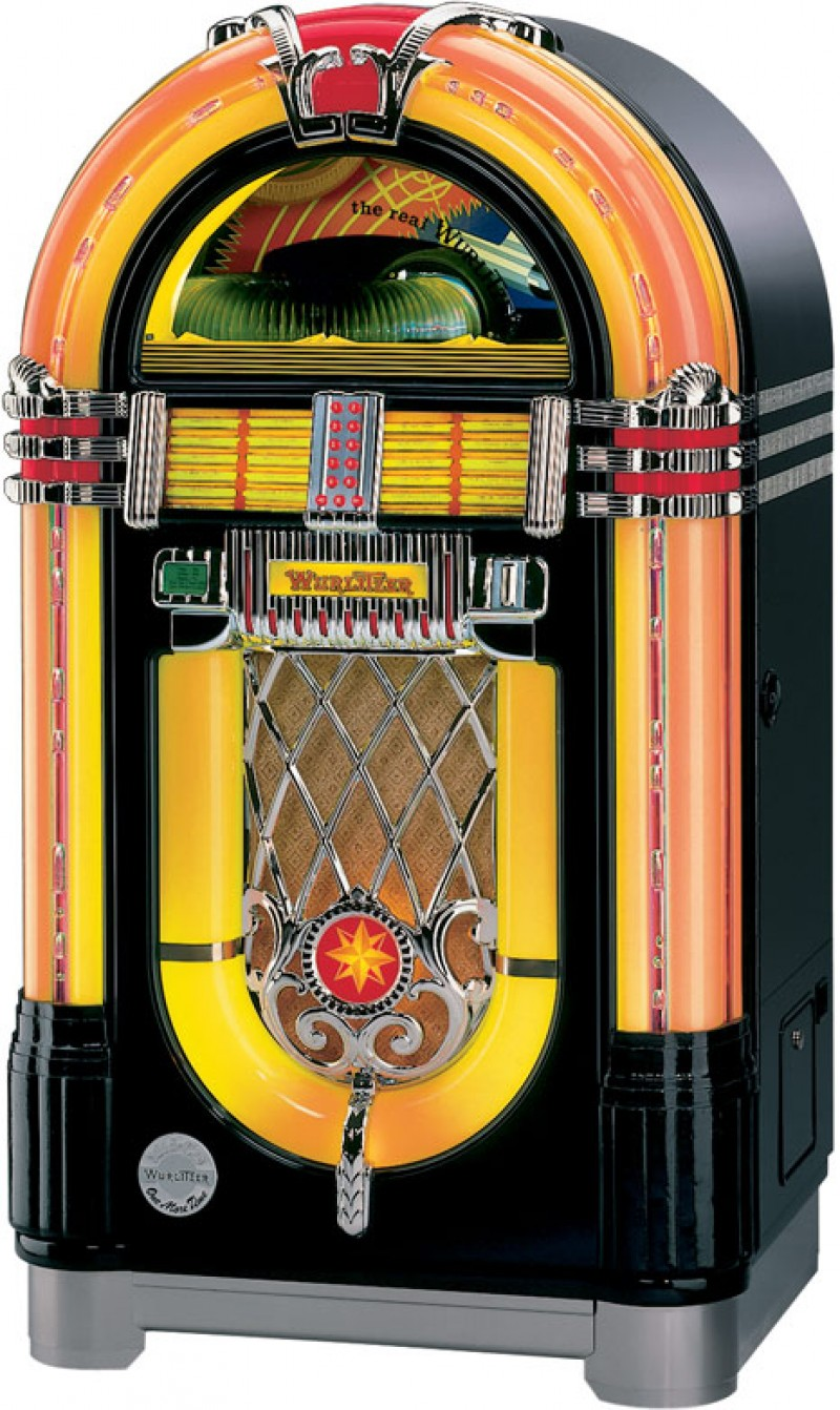 wurlitzer jukebox musikbox one more time juke box music box. Black Bedroom Furniture Sets. Home Design Ideas