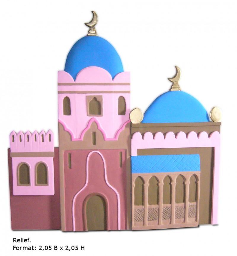 Orient palast orientalisch bunt basar indien - Dekoration orientalisch ...
