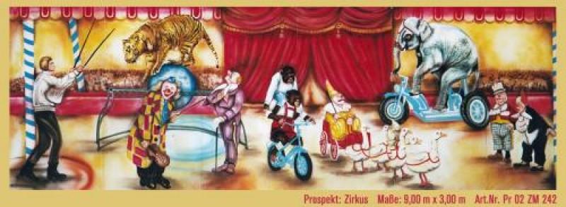 Zirkusmanege kulisse clown tiere manege zirkus cirkus for Zirkus dekoration