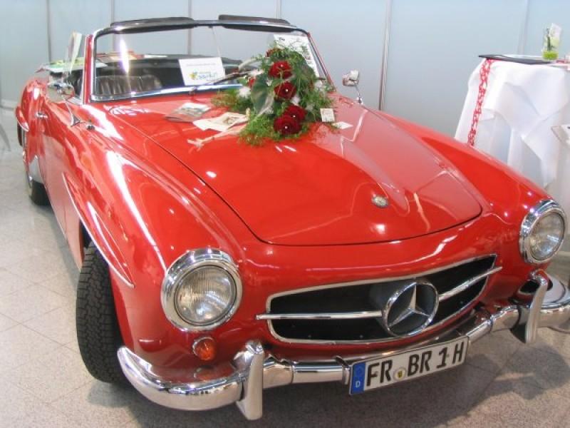 mercedes-benz 190 sl cabrio, oldtimer, sportwagen - lieferung aus