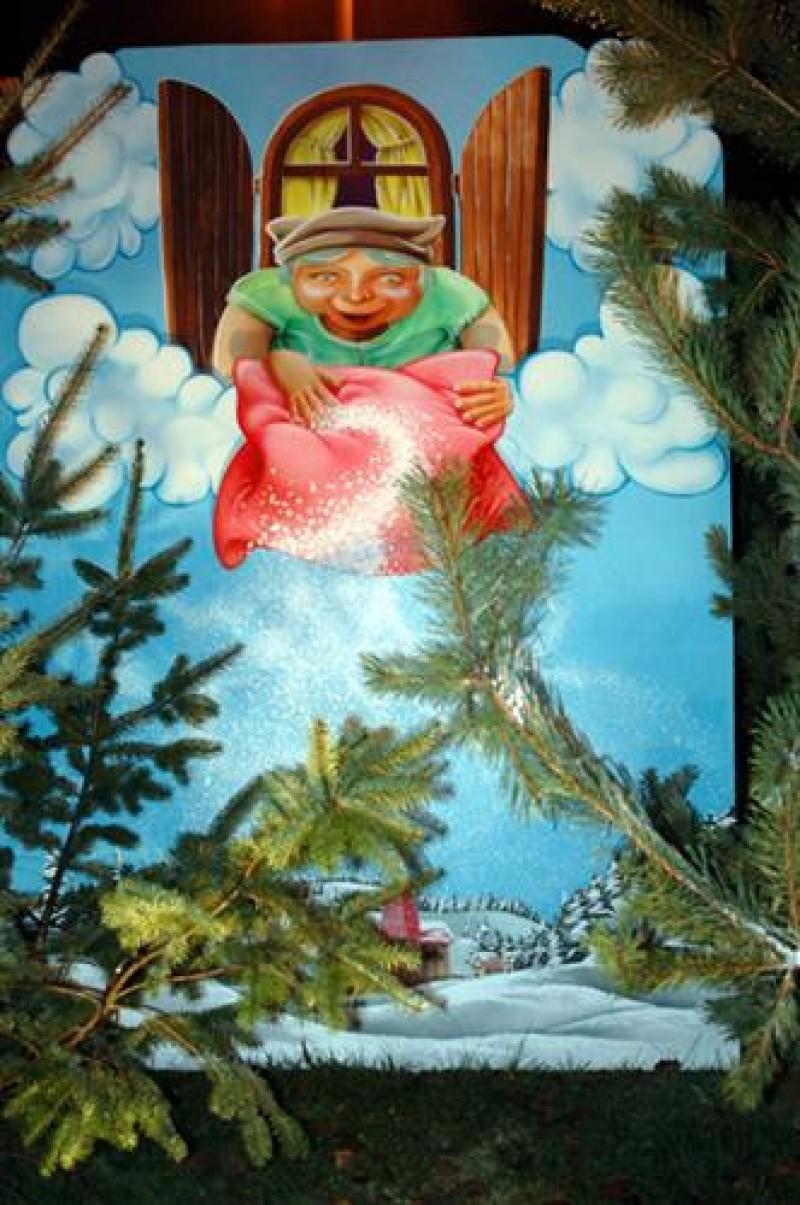 Märchen Szene – Frau Holle , Winter Weihnachten Dekoration , Märchen ...